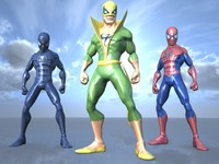 3d characters spiderman