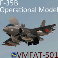 USMC F-35 B Lightning II Operational Model with pilot