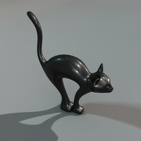 decorative cat c4d