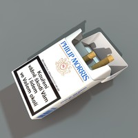 box cigarettes 3d model