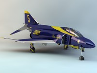 3d model f-4j phantom ii blue angels