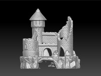 3d model scan fish castle