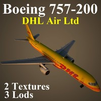 boeing 757-200 dhl 3d max