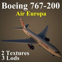 boeing 767-200 aea 3d model