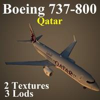 3d boeing 737-800 qtr model