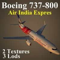 3d model boeing 737-800 axb