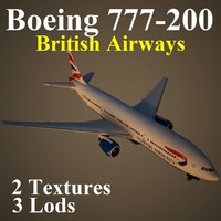 3ds max boeing 777-200 baw