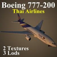 3d boeing 777-200 tha