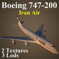 boeing 747-200 ira 3d model