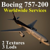 oeing 757- ups 3d max