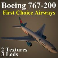 boeing 767-200 fca 3d max