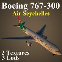 boeing 767-300 sey 3d max