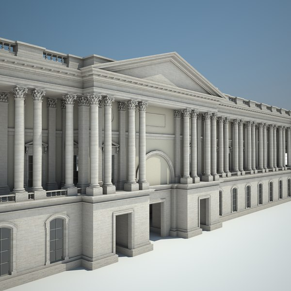 3d palace courtyard