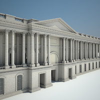 palace courtyard 3d model