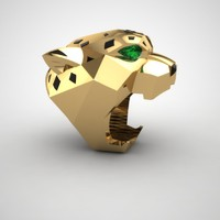 3d model of panthere head ring