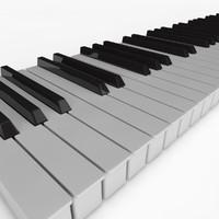 3d piano keys model