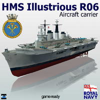 hms illustrious r06 3d 3ds