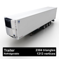 3d obj refridgerable trailer