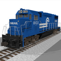 Conrail Train Engine: EMD GP38: C4D Model