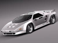 car v8 sport vector 3d model