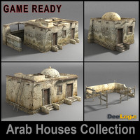 arab houses 3d max