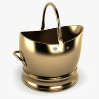 brass coal bucket 3d model