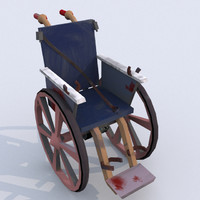 Bloody Wheelchair UV-mapped