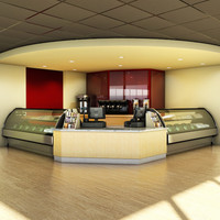 coffee shop 3d max