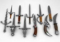 3d model of daggers