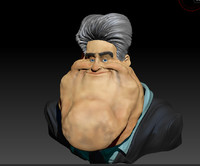 caricature jay leno 3d model
