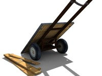 3d donkey cart model