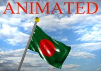 3d model bangladesh flag