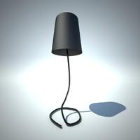 3d minimalistic lamp helix