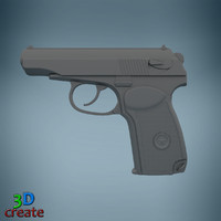 3d model makarov pm