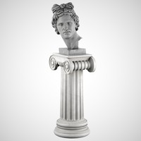 3d decorative sculpture apollo pedestal model