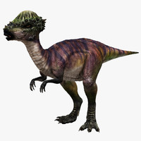 3d omnivorous pachycephalosaurus model