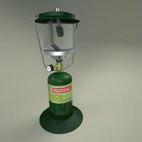 3d model of camping lantern