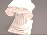 ionic column 3d max