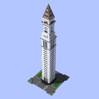 clock tower 3d obj