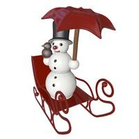 3ds snowman sleigh