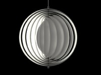 3d model vitra moon lamp light