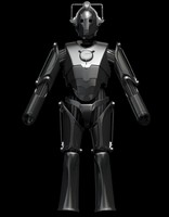 3d model cyberman modeled