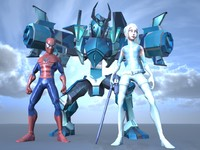 characters spiderman 3d ma