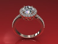Love Round Diamond Ring