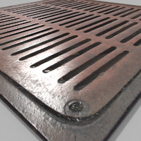 3d blender cycles metal grate model