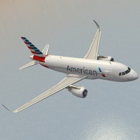 sharkleted airbus a319neo american airlines 3d model