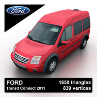 3d model 2011 transit connect van