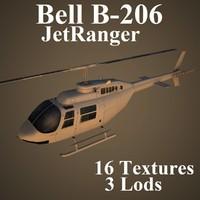 bell b-206 jetranger 3d max