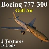 3d boeing 777-300 gfa