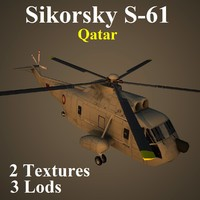 3d sikorsky qat helicopter